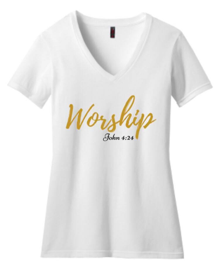 Image of L.O.Y.L.- Worship- V-neck (Women)