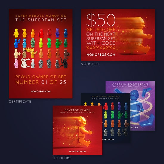 Image of THE SUPER HEROES SUPERFAN SET [LIMITED EDITION]