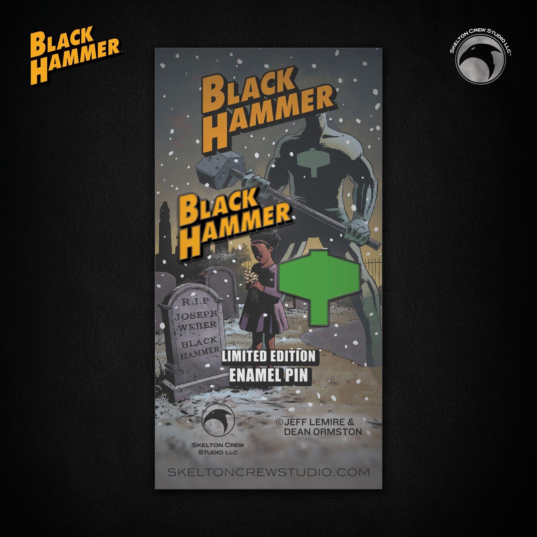 Image of Black Hammer: Limited Edition Black Hammer Logo & Emblem enamel pin set! FREE U.S. SHIPPING!