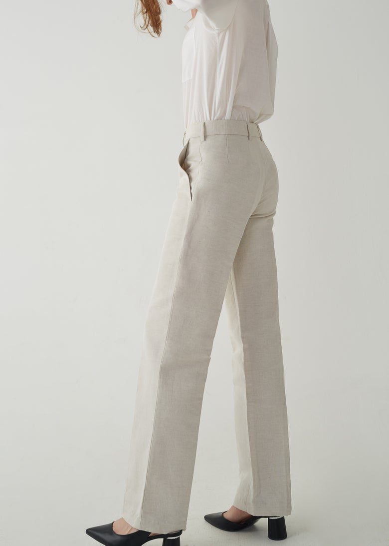 Image of 10-3 ORGANIC SLIM TROUSERS LINEN