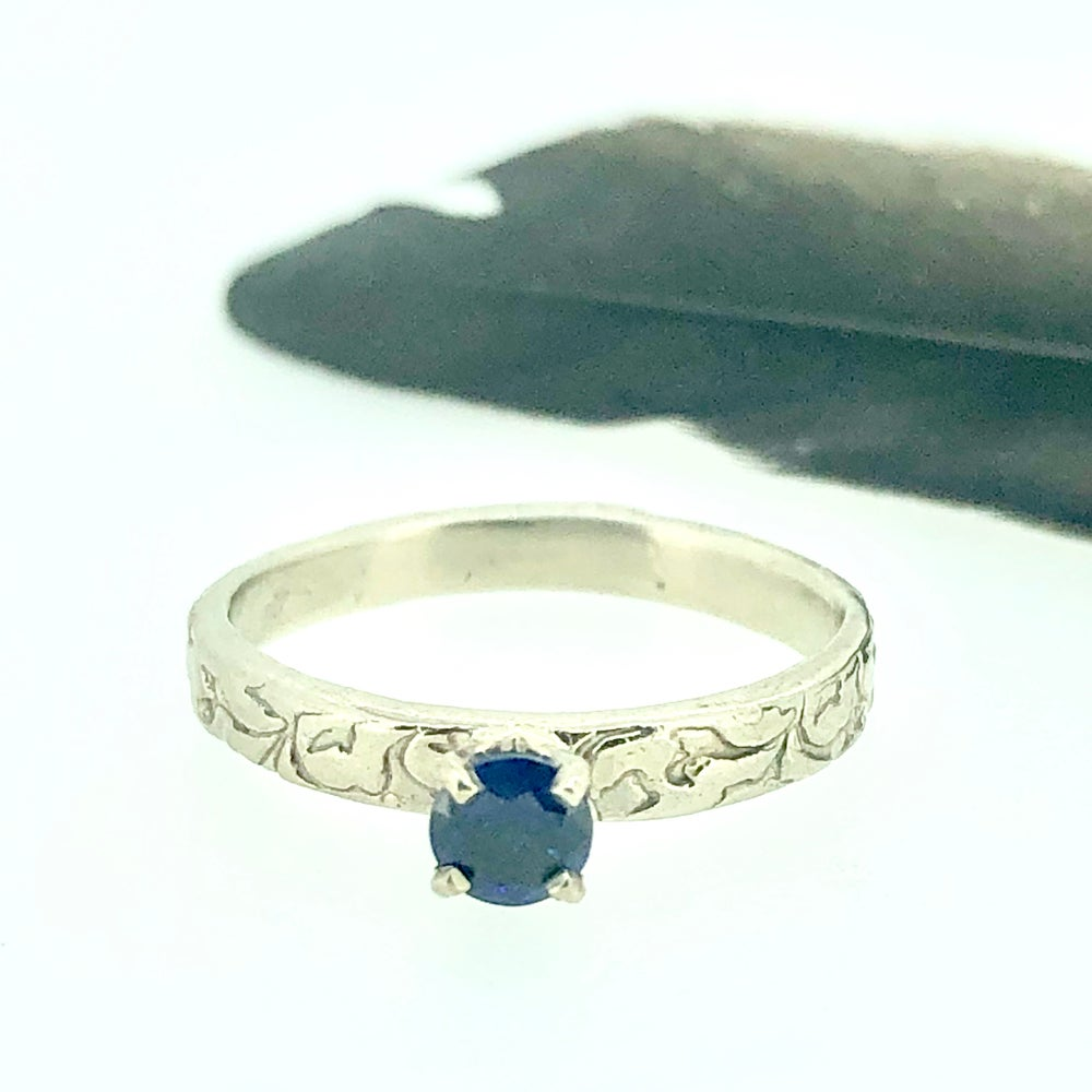 Image of Reserved for P . A custom sapphire engagement ring