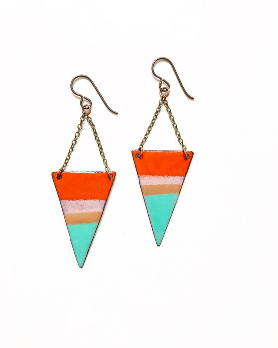 Image of Sunset Enamel Earrings