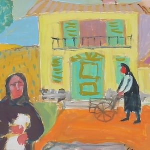 Image of Mid-century, 'On the Farm,' Gerhard Karlmark (1905-1976)