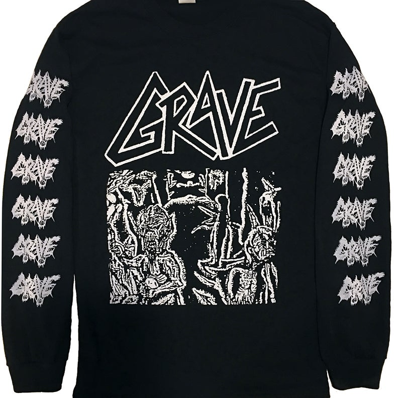 "Image of Grave "" Anatomia Corporis Humani "" Long Sleeve T shirt with sleeve prints"
