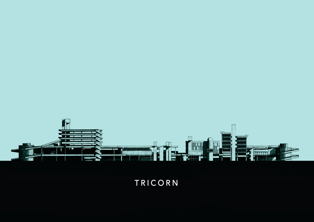 Image of Tricorn Centre Colour Elevation poster (with text)