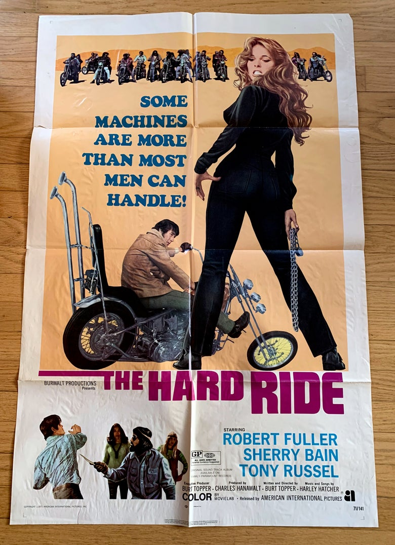 Image of 1971 THE HARD RIDE Original U.S. One Sheet Movie Poster