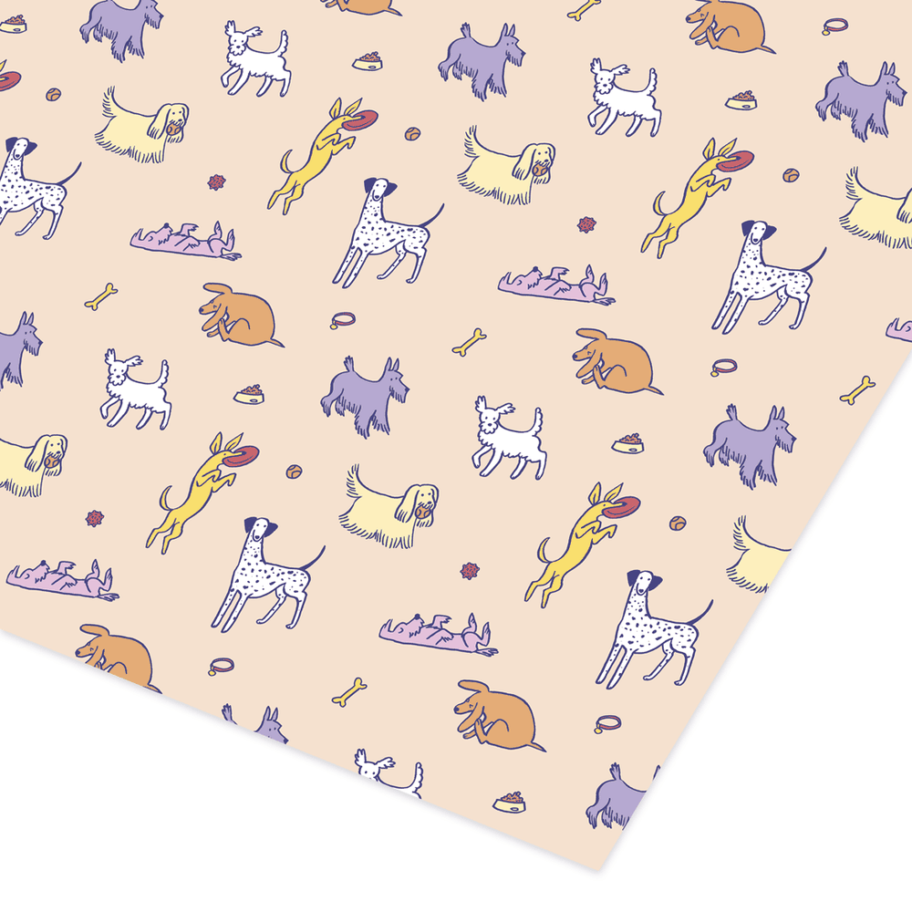 Image of DOGS WRAPPING PAPER