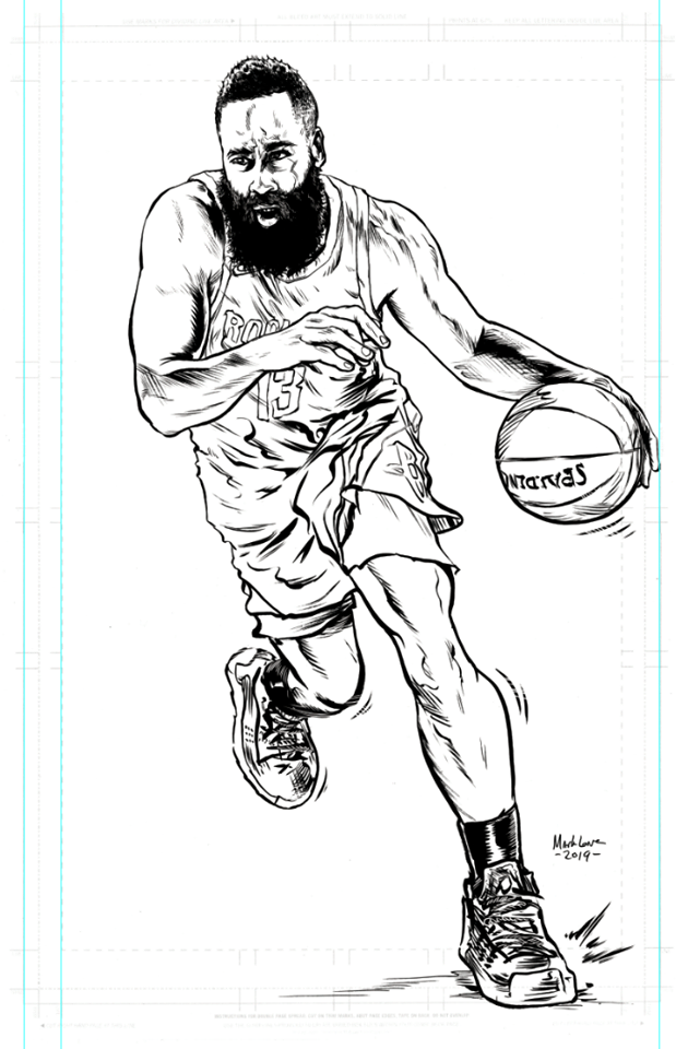 Image of Harden inks on 11x17 inch