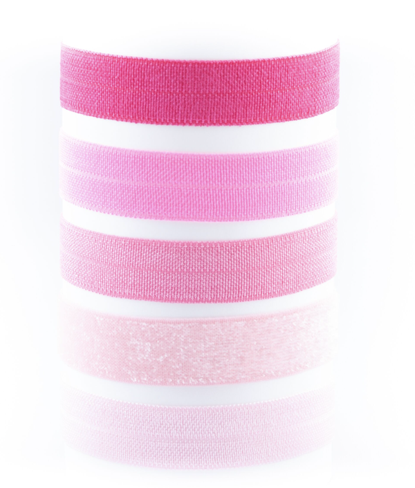 Image of CONSTANCE THINK PINK OMBRE HAIR TIES