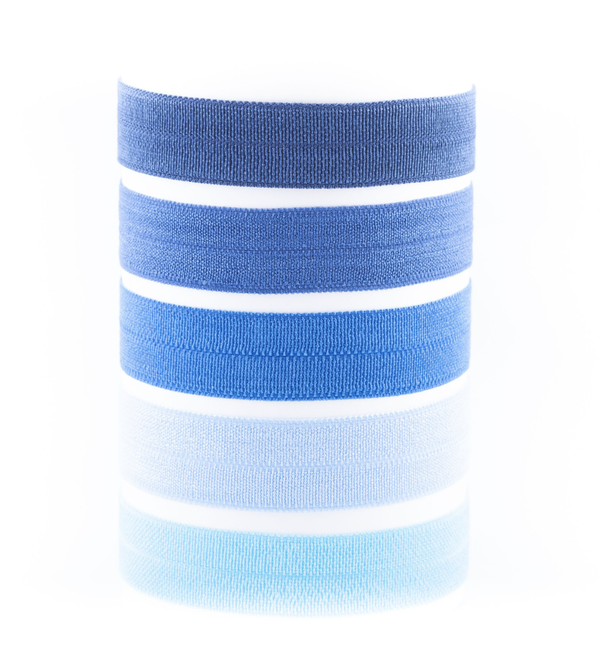 Image of CONSTANCE BLUE CALM OMBRE HAIR TIE PACK