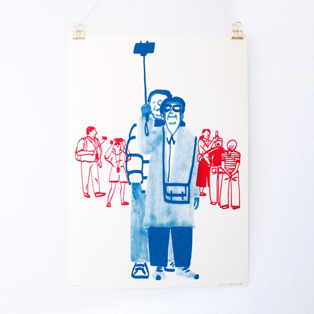 Image of    People Watching • Selfie Front (Size A3)