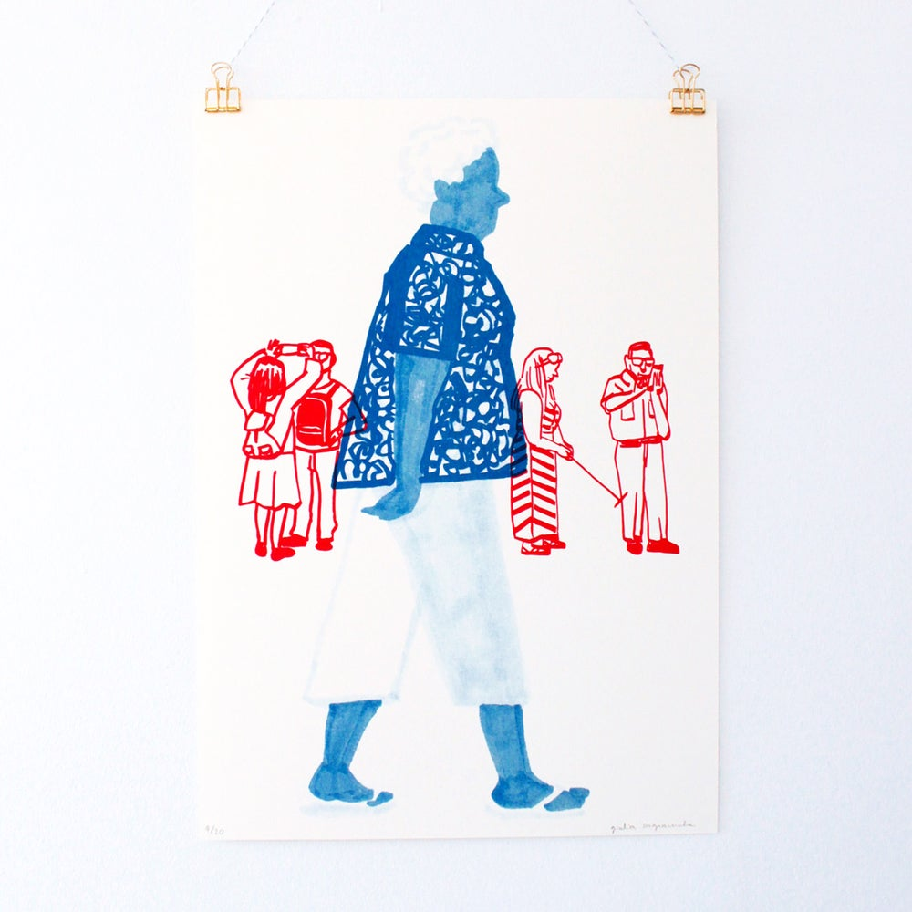 Image of People Watching • Woman (Size A3)