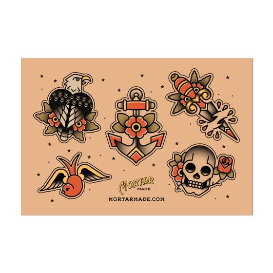 Image of Tattoo Flash Sticker Sheet