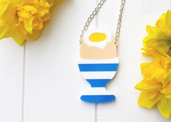 Easter Boiled Dippy Egg Necklace  - Black Heart Creatives