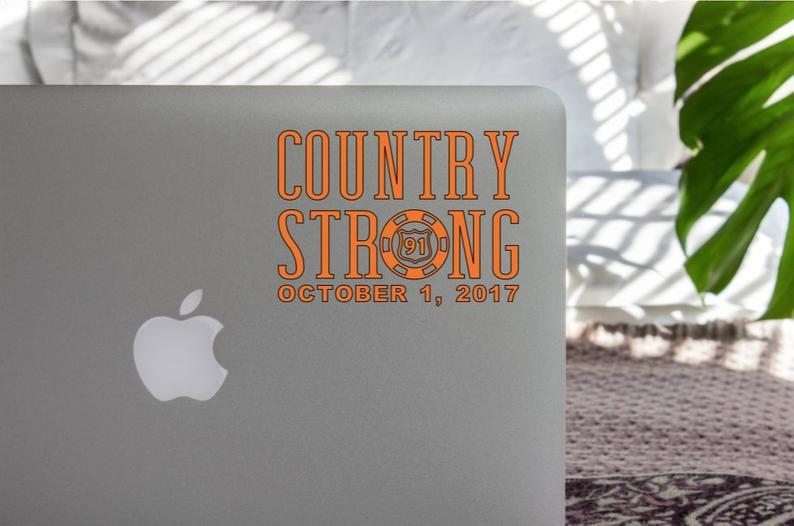 Image of Country Strong Route 91 Decal with Date
