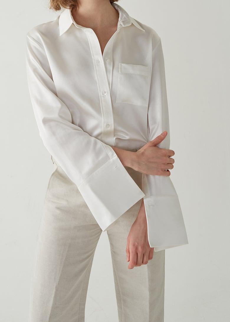 Image of 04-3 Organic 'Peace' Silk Shirt