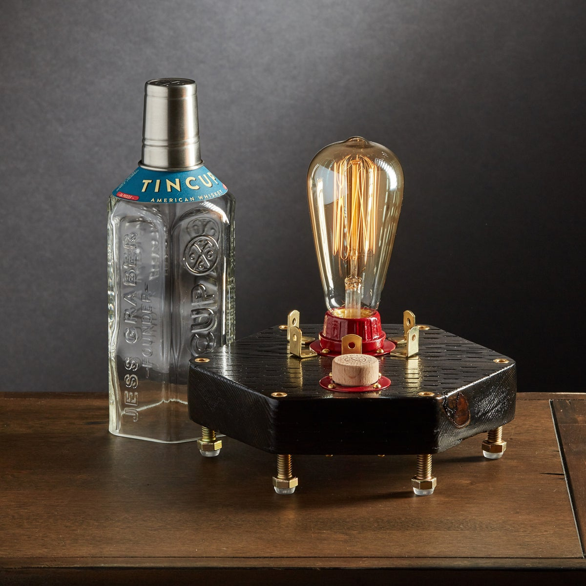 "Image of ""Hex"" Bourbon Table Lamp"