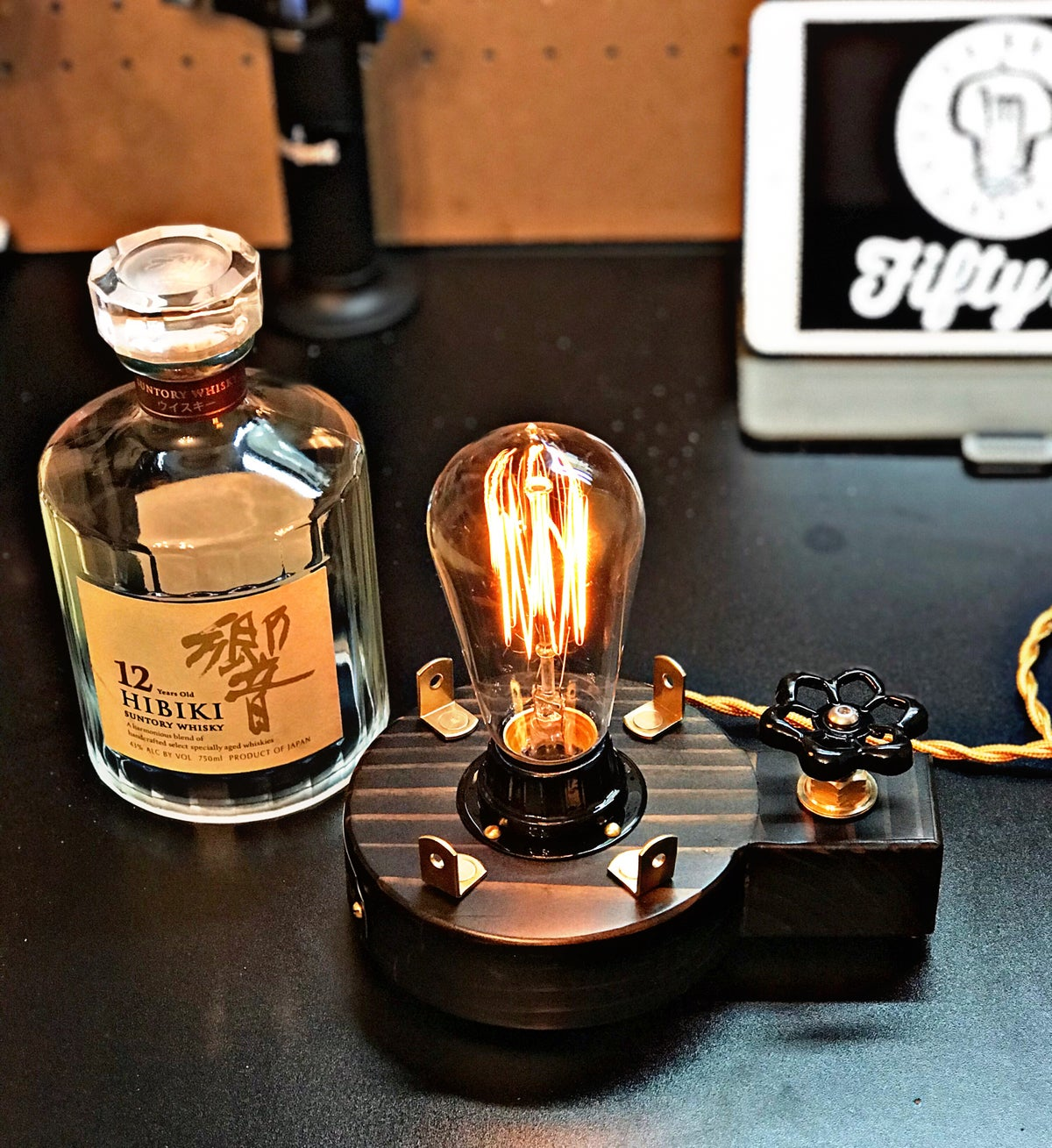"Image of ""Hibiki"" Whiskey Table Lamp"