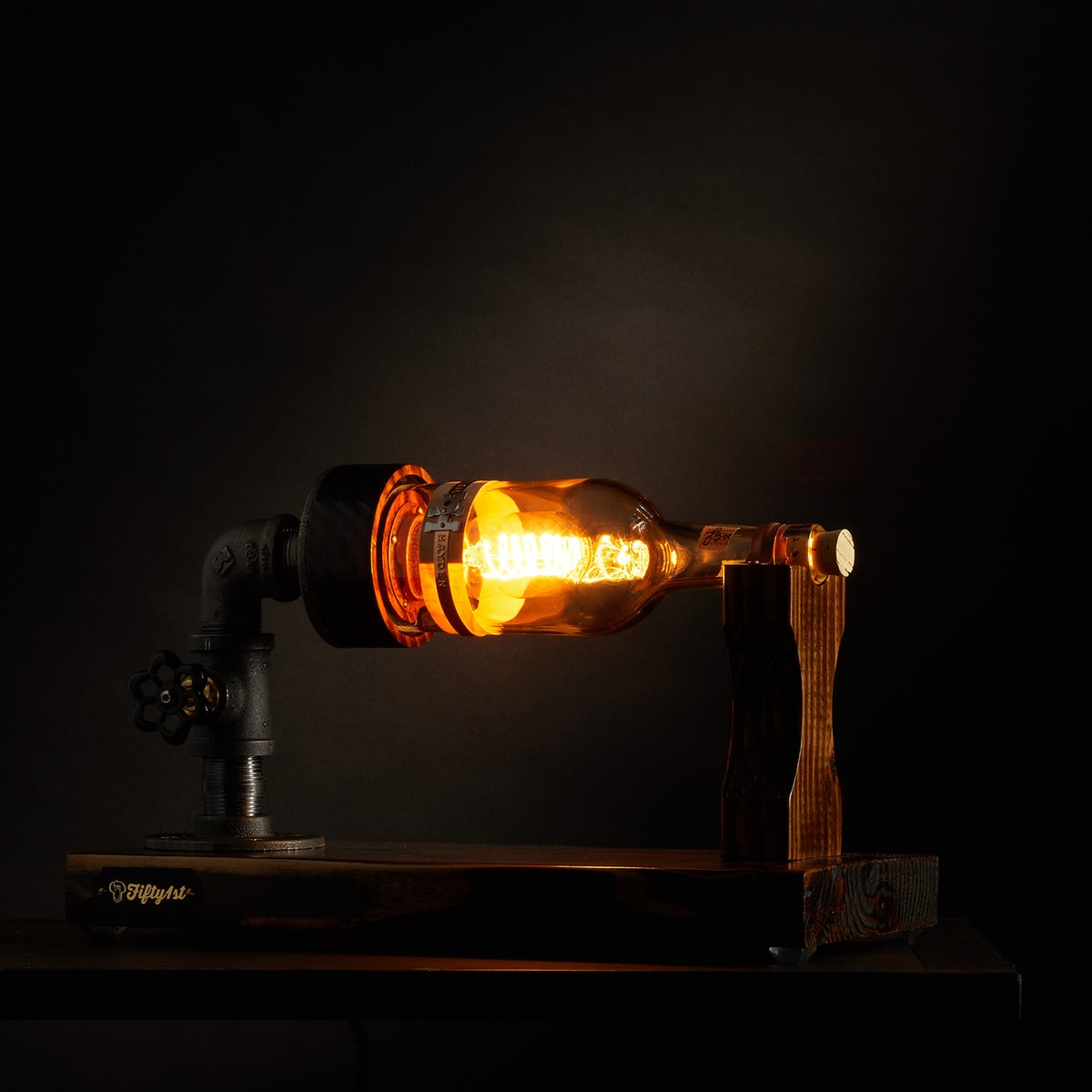 "Image of ""Ship Wreck"" Bourbon Table Lamp"
