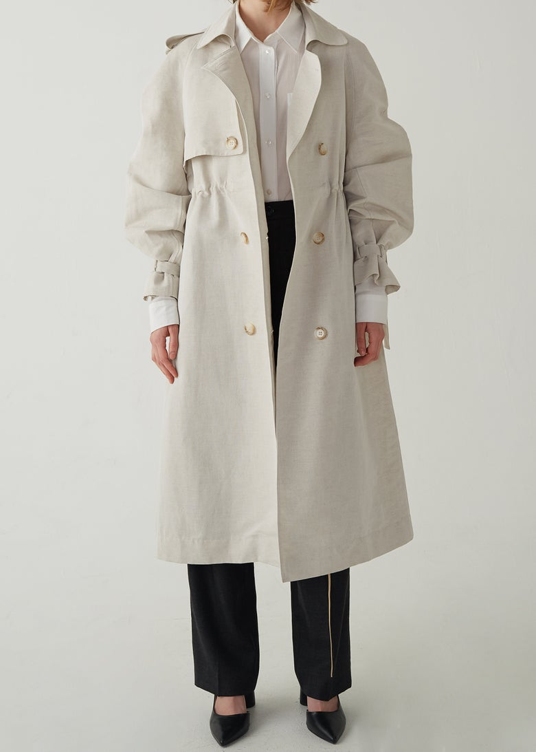 Image of 17-3 ORGANIC TRENCH COAT