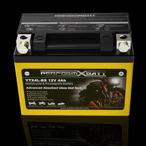 Image of Motorcycle & Scooters Battery YTX4L-BS High Performance AGM 120 CCA