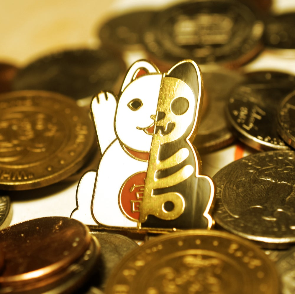 Image of Lucky Cat Lapel Pin Preorder