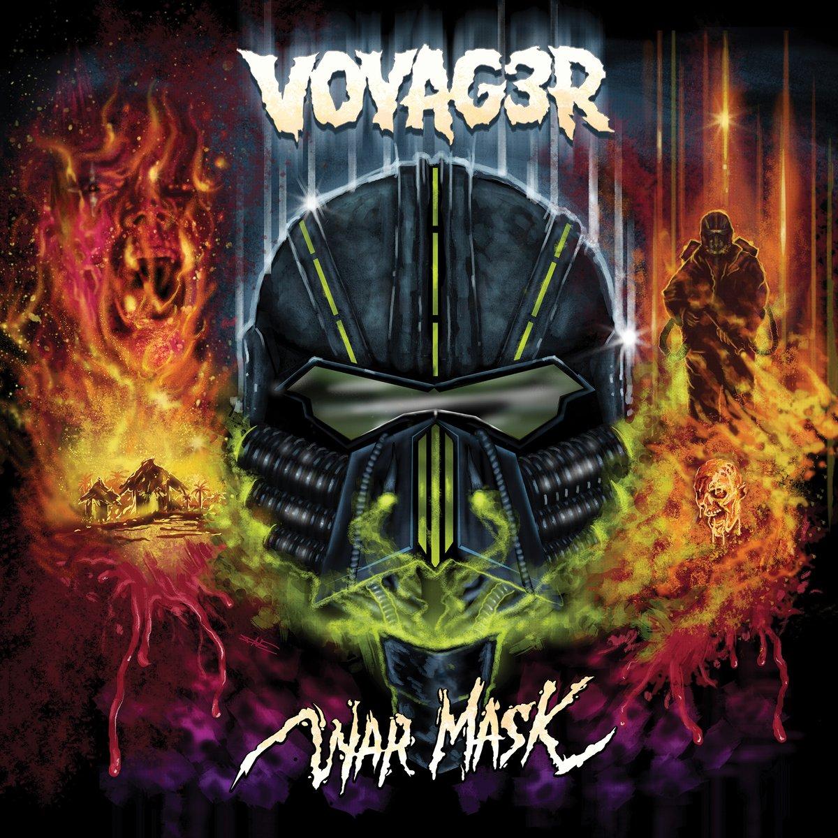 Image of Voyag3r - War Mask - LP + Download Code + 3-D Art Print w/Mask