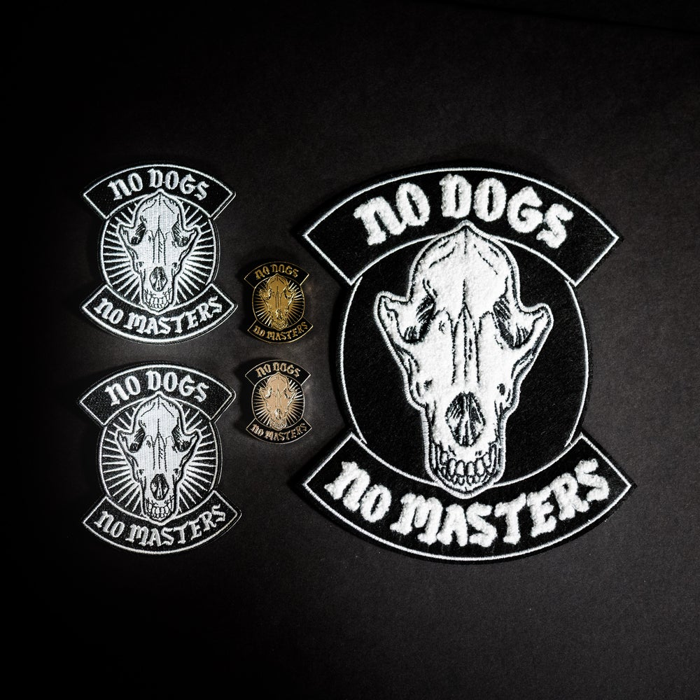 Image of NO DOGS, NO MASTERS PINS & PATCHES : @LillianJoan X Cat Man