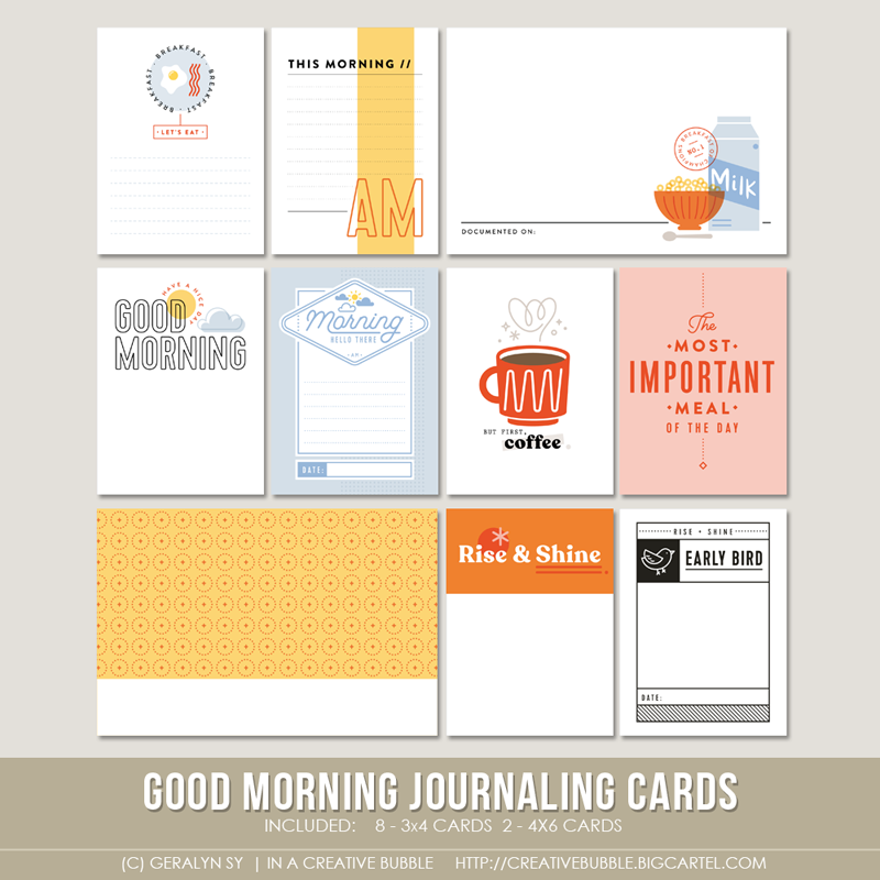 Image of Good Morning Journaling Cards (Digital)