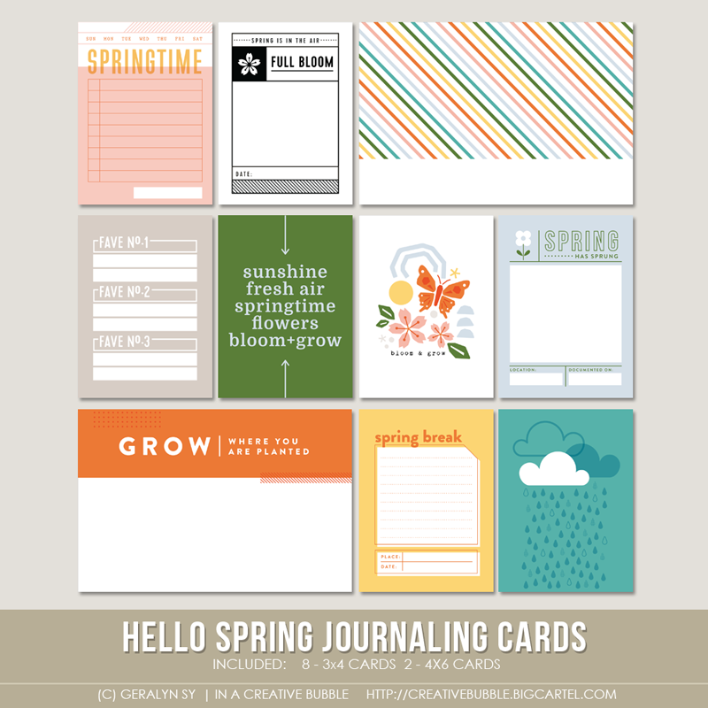 Image of Hello Spring Journaling Cards (Digital)