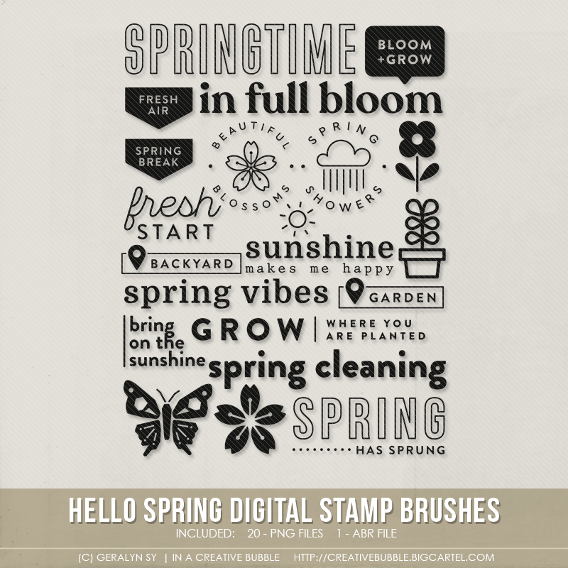 Image of Hello Spring Stamp Brushes (Digital)