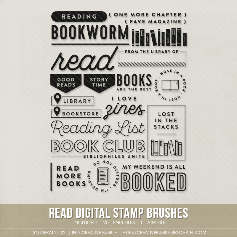 Image of Read Stamp Brushes (Digital)