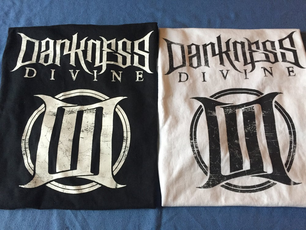 Image of Darkness Divine Logo Tee (Black or White)