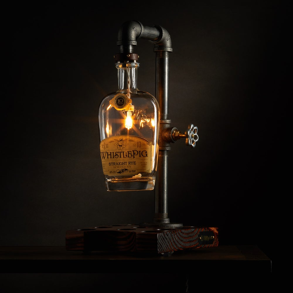 "Image of ""This Lil Piggy"" Whiskey Table Lamp"