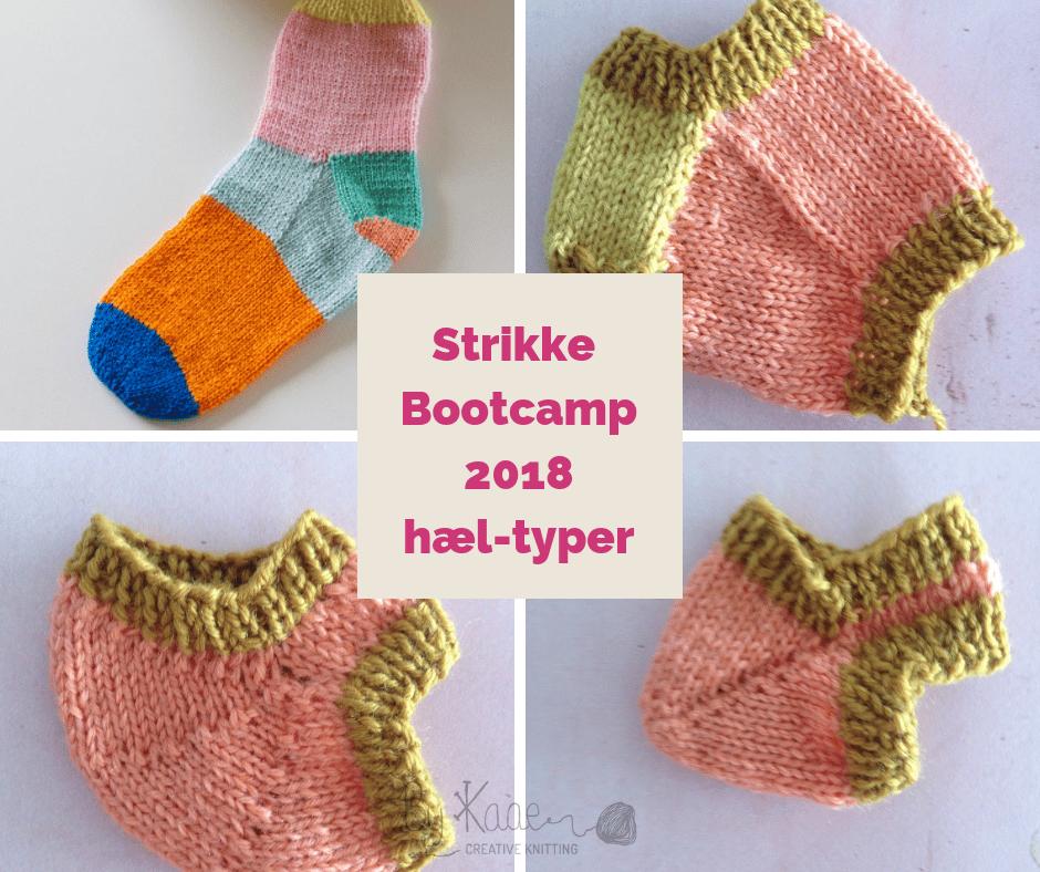 Image of Hæl-typer fra Strikke Bootcamp 2018 Bliv en ørn til at strikke sokker