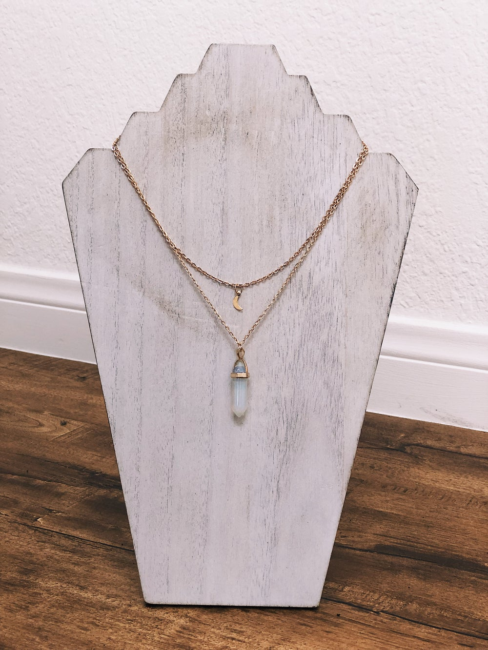 Image of Opal Crystal Layered Necklace