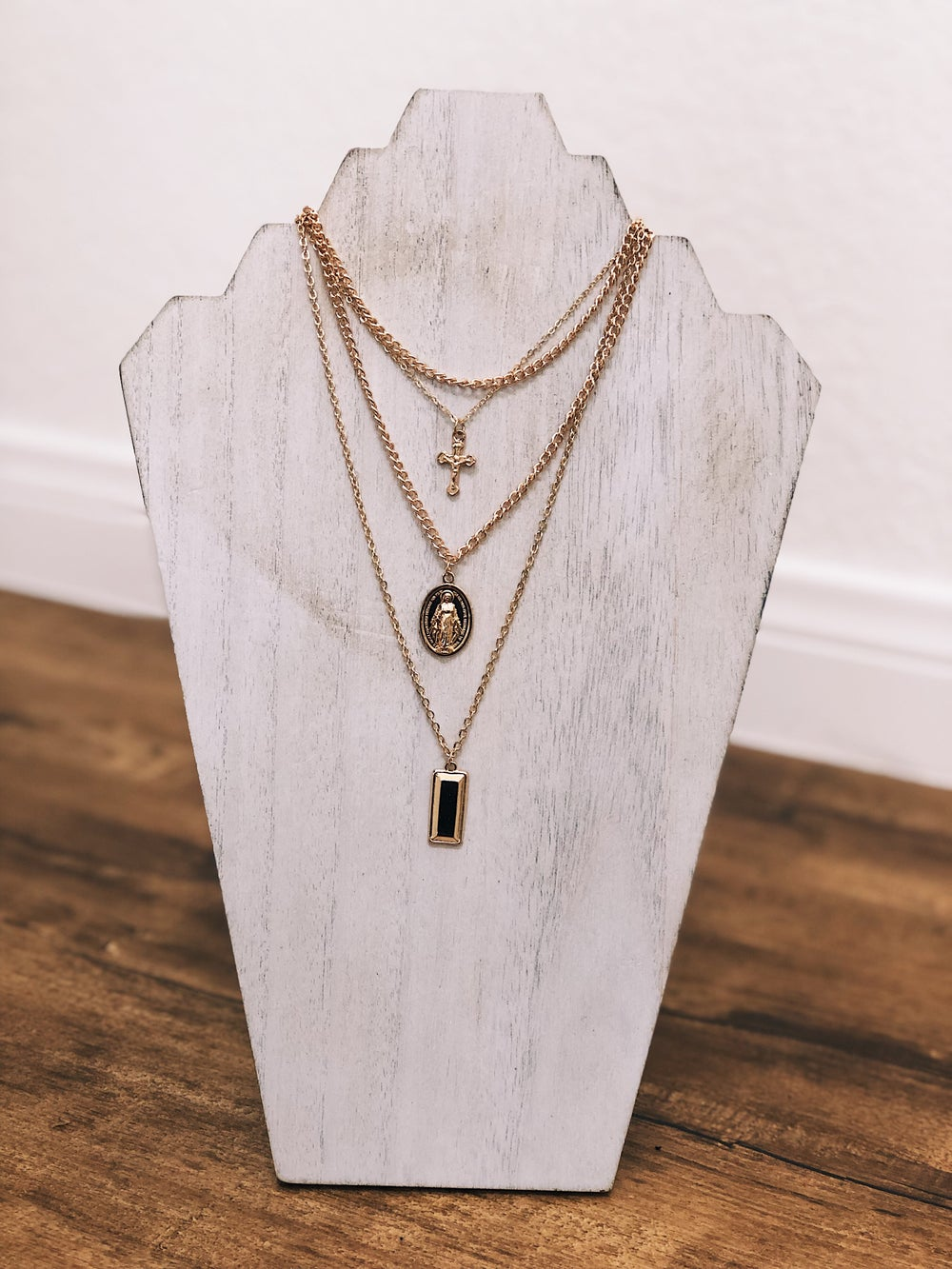 Image of Ave Maria Layered Necklace