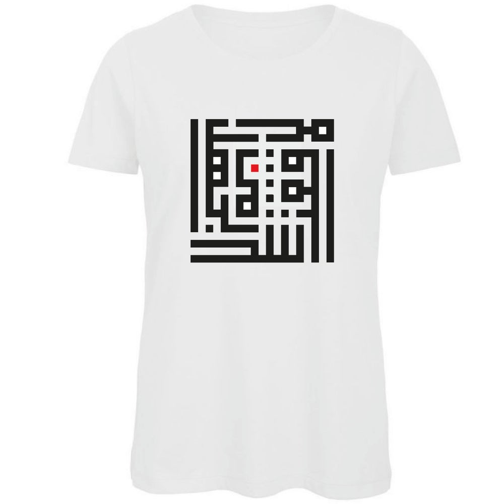 Image of Woman t-shirt - Black R calligraffiti