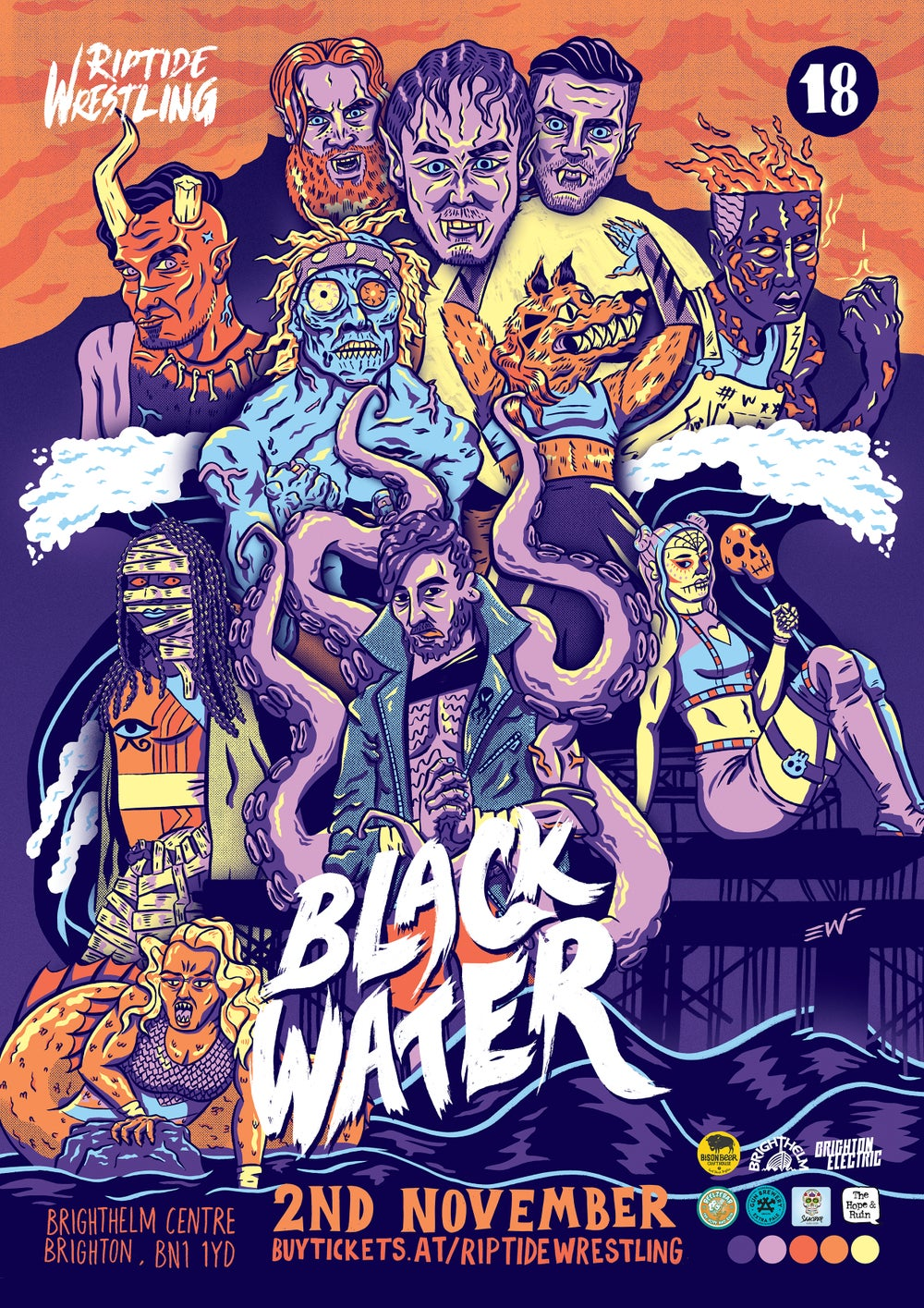 Image of Black Water Poster - A2 Print