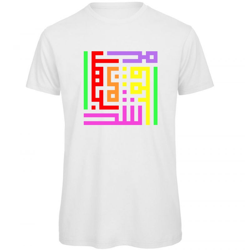 Image of Man t-shirt - Rainbow calligraffiti