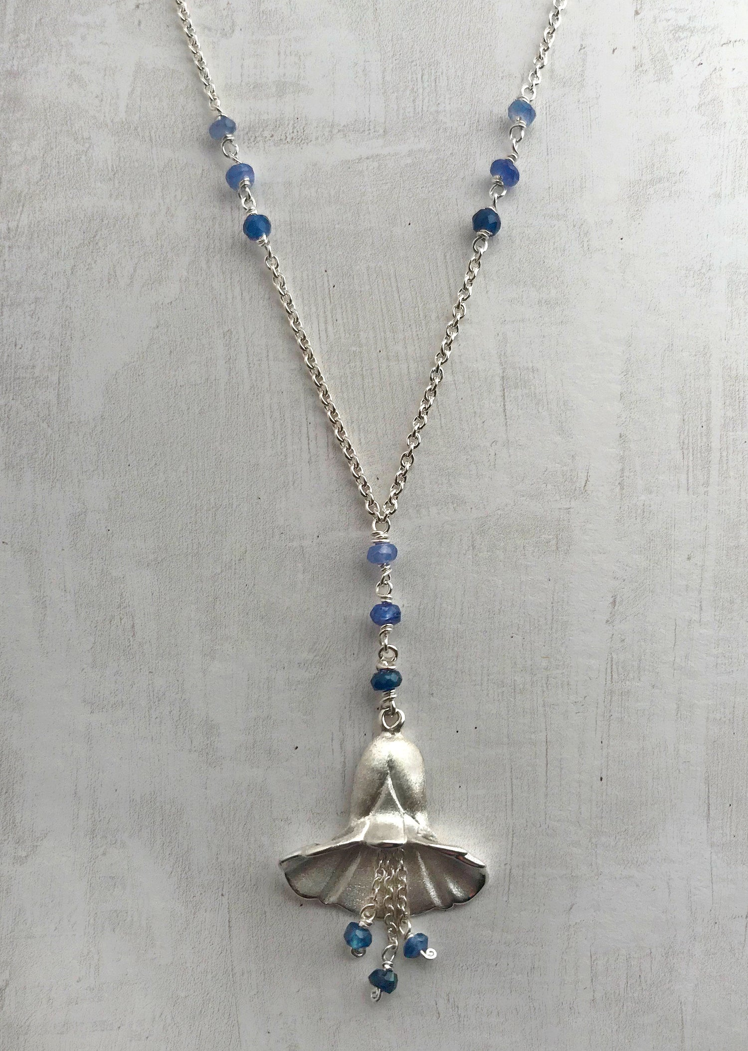 Image of Blue Bell Necklace