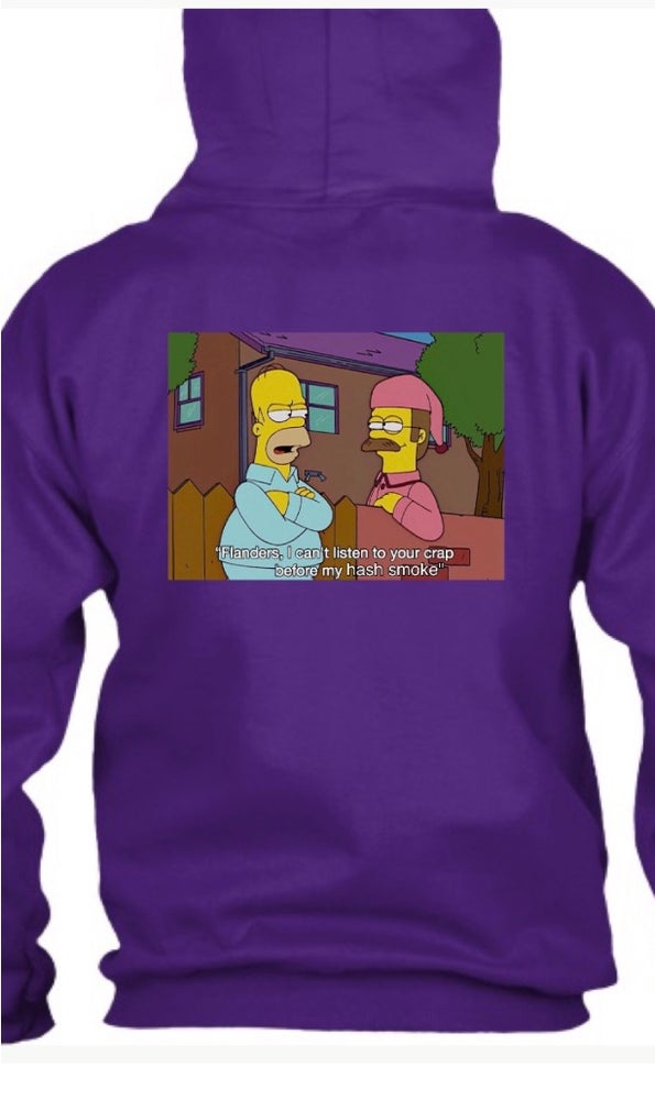 Image of Purple Embroidered Whatever Homer Hash