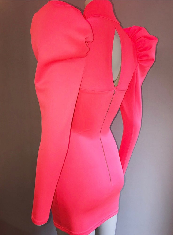Image of F R E Y A / dress - Neon Coral