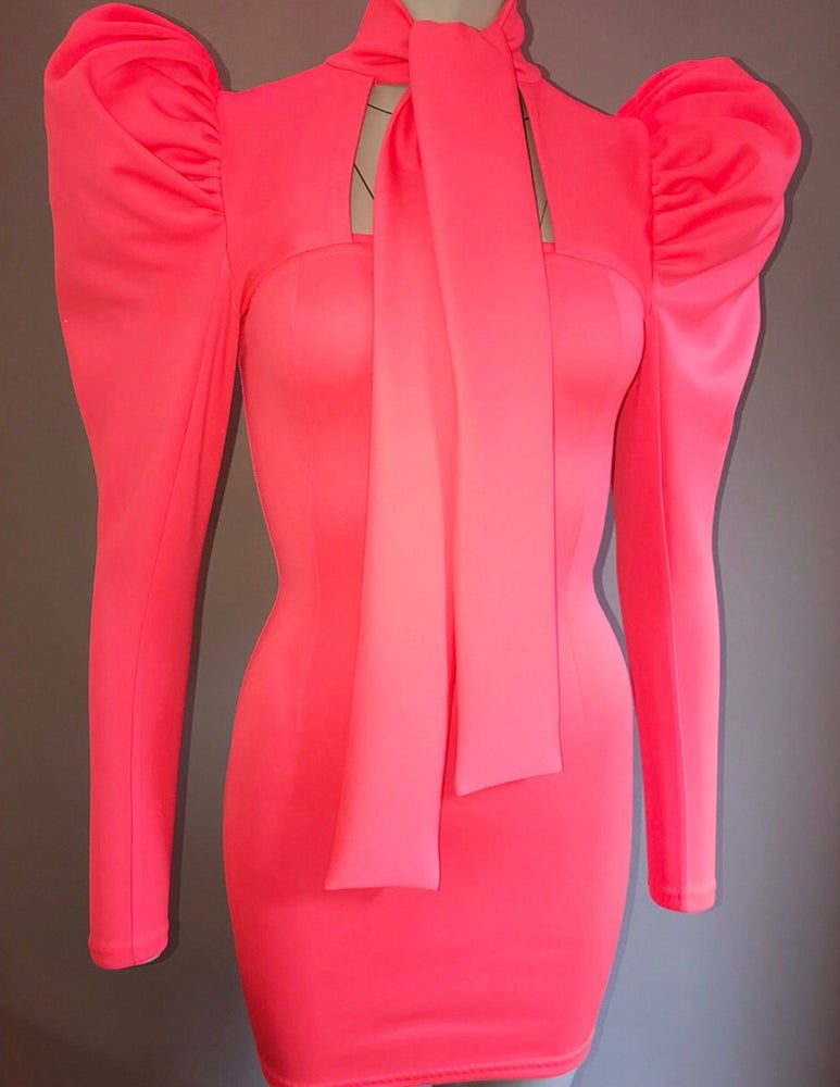 Image of F R E Y A / dress - Neon Orangel