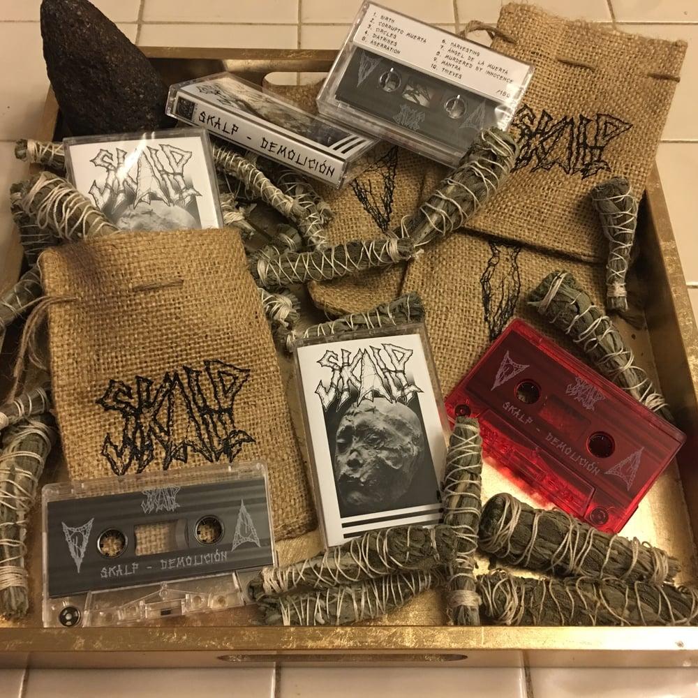 Image of SKALP (Demo/lición) Red Tape W/ Burlap Sack & Handmade Smudge Stick