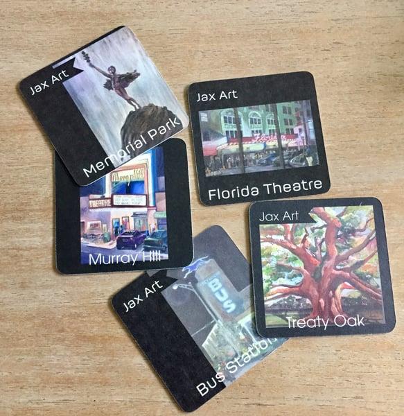 Image of LL015 Jacksonville Cardboard Coasters
