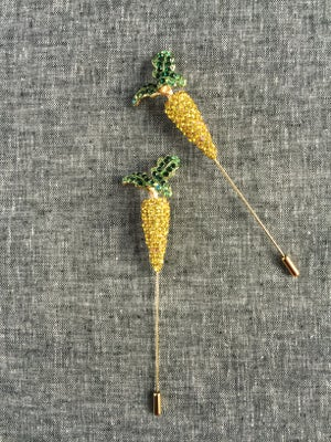 Image of Spring Carrot Lapel Pin (yellow)