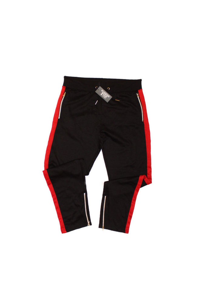 Image of STRIPE JOGGERS (Red/Black)