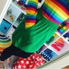 Green Rainbow Pocket Skirt