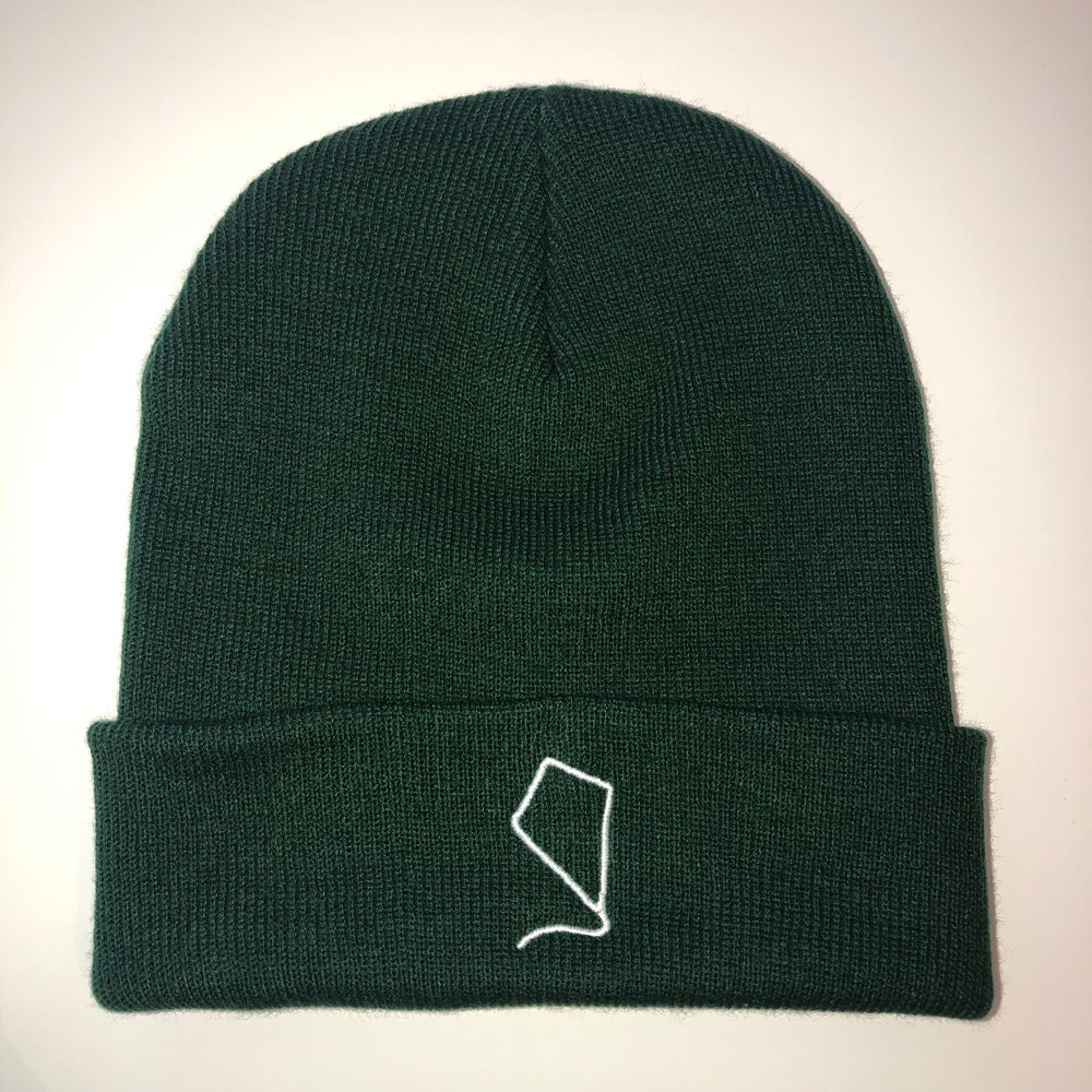 Image of Indoor Kites Logo Bottle Green Beanie